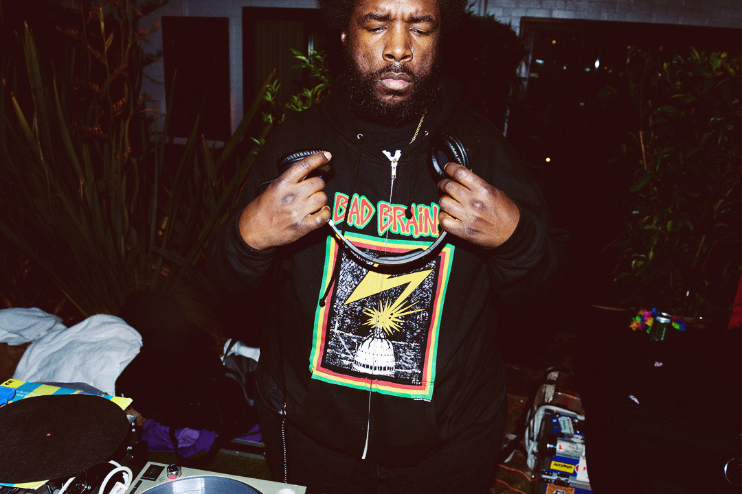 Questlove stepping to the decks in a BAD BRAINS hoodie for the first NIGHT SWIM of the season… still the best party in Hollywood!