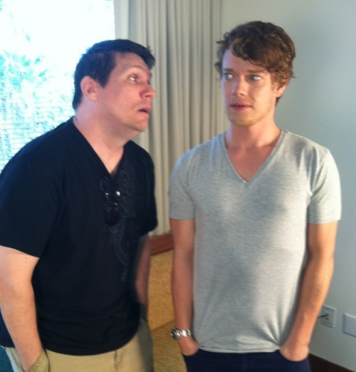 wicnet:  WiC's own FireAndBlood creeping out Alfie Allen today. Amazing Alfie still agreed to be interviewed after this moment.