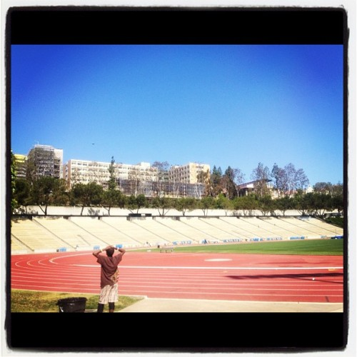 Ucla Drake stadium, I run stairs here. #picoftheday #bestoftheday #webstagram #tweetgram #igers #jj #instagood #ucla (Taken with Instagram at UCLA Drake Track & Field Stadium)