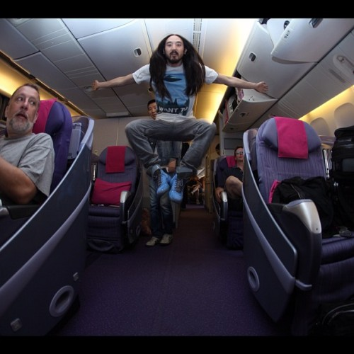 #aokijump #19 Thai airways business class seat area Bangkok may 31 2012 (Taken with instagram)