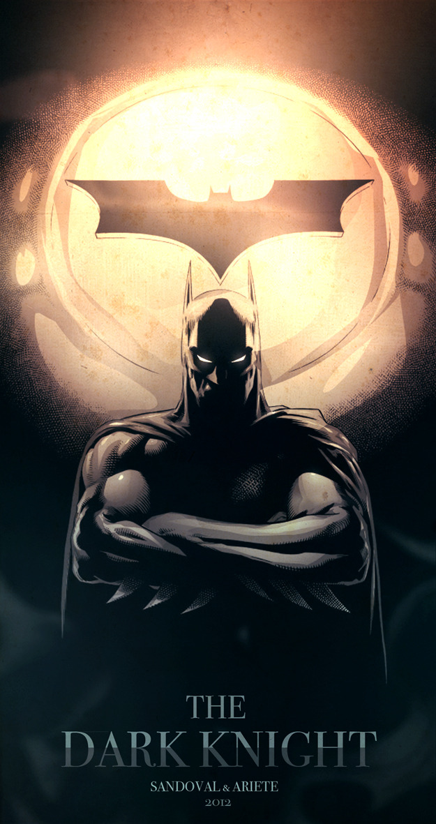 xombiedirge:  The Dark Knight by Sergio Sandoval & Guillermo Ariete