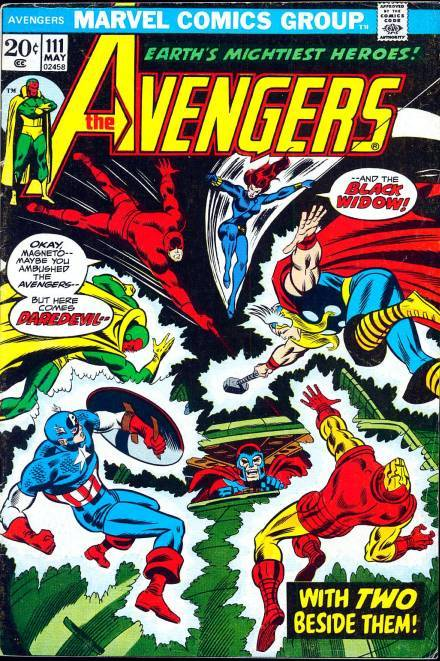 Avengers #111, May 1973, written by Steve Englehart, penciled by Don Heck