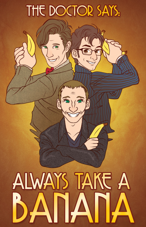 doctorwho:  Bananas are good Good source of potassium guttyworks:  Poster for AM2 and Anime Expo!