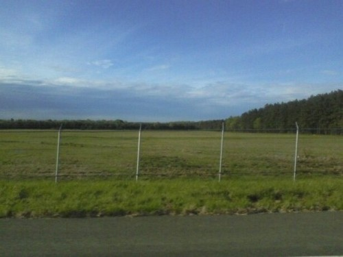 taken at the airport. so many open fields.