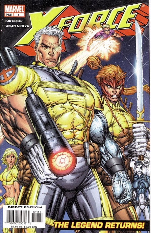 X-Force v2 #1, October 2004, written and penciled by Rob Liefeld, written by Fabian Nicieza Why am I putting myself through this? If I said it was for my podcast, Matt and Brett Love Comics, would that make it okay? Not the story. Nothing can make this okay.