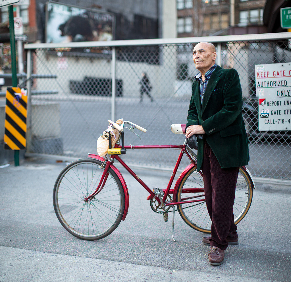 #BikeNYC Portrait: Bilal the Genius Tailor (by Dmitry Gudkov)