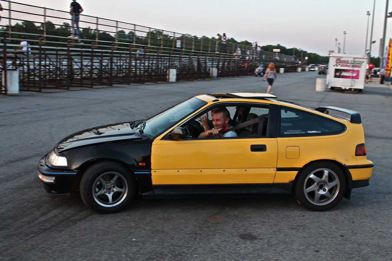 My buddy Will's h2b jdm front street driven CRX shootin for 12s… no trailer queen here