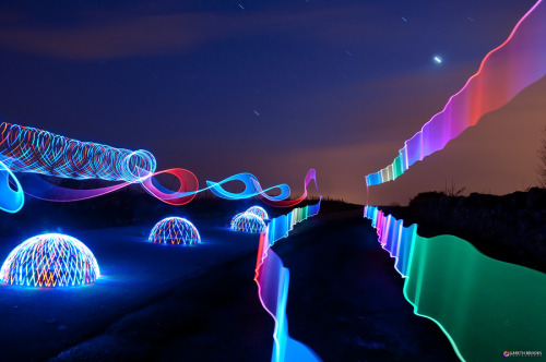 unknownskywalker:  Ribbons, Domes and Star Trails by Gareth Brooks