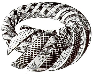 m.c.escher - how did you do what you do boo? You must have a true understanding of realistic structuring of objects to make the artwork that he did. trully from another dimension…3 dimensional that is :)