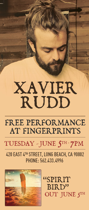 Xavier Rudd is performing June 5th at Fingerprints Record Store in Long Beach.  'Spirit Bird' is the new album by Xavier Rudd and it releases June 5th as well. Performance is at 7PM and to guarantee entry to this intimate performance, call Fingerprints to pre-order your copy of Spirit Bird. Phone Number - 562.433.4996 See you there. Spread the word.