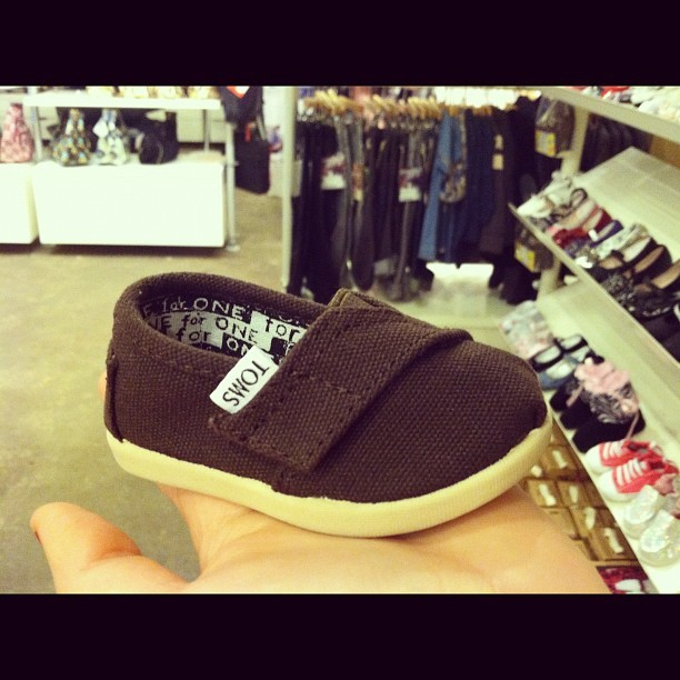 World's tiniest Tom @tomsshoes #adorable  (Taken with instagram)