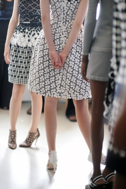 labellefabuleuse:  Backstage at Oscar de la Renta, Resort 2013