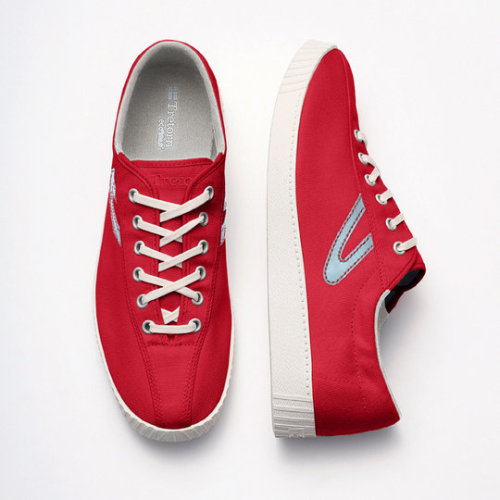 Tretorn - Nylite Canvas Shoes in Red and Starlight Blue