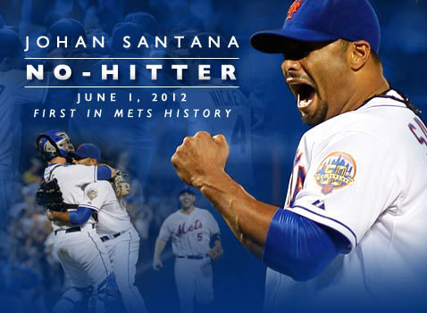 chrisdaps:  This.  Tonight, Johan Santana threw the first no hitter in New York Mets history against the World Series Champion St. Louis Cardinals. I've been a New York Mets fan my entire life, because my father was a Mets fan. My father and I were not as close as either of us would have liked but we always found common ground with the Mets, who until tonight had never had a pitcher throw a no hitter.  When I was growing up on Long Island my father told me about some of the times a Mets pitcher came close, like Tom Seaver in 1969. Over the years I had seen a few near no-hitters to but like many other Mets fans I figured it would never happen in my lifetime just like it didn't happen in my father's. Since I'm a Mets fan living in Los Angeles, weeknight games start while I'm still at work. Today I was listening to the radio feed through MLB.com while I was working. After three innings I wrapped up my workday. Usually I'll get in my car, switch to the MLB app on my iPhone and listen on the way home, then catch the end on TV at home. Today instead of going home I decided to hit the gym at work to get a run in. I planned on a quick 45 minutes on the treadmill. I started running and tuned into the radio broadcast on my phone in the top of the 5th inning. I noticed Johan Santana hadn't given up a hit but I'd been down this road too many times to get excited. When Santana sent down the Cardinals without a hit in the 6th I started to think like a crazy person…what if running on this treadmill, 2,500 miles from where the game was being played was somehow keeping the no-hitter intact. I had to keep running.  Gotta stay on this treadmill, it's lucky. #mets — Will Stegemann (@BeTheBoy) June 2, 2012 By the end of the 7th I had hit my 45 minute limit, but this was history.I had to keep running. For the Mets, for the fans and for my father who never experienced a Mets no-hitter. The rest of the story can be told in Tweets:   Staying on this treadmill, can't say why #mets — Will Stegemann (@BeTheBoy) June 2, 2012  3 outs to go. Still on the no no treadmill . #metstell @slackmistress I love her. — Will Stegemann (@BeTheBoy) June 2, 2012  Come on Johan. #mets I am walking but still on the treadmill . — Will Stegemann (@BeTheBoy) June 2, 2012  I can stop running. 8 miles later a met throws a no hitter, — Will Stegemann (@BeTheBoy) June 2, 2012