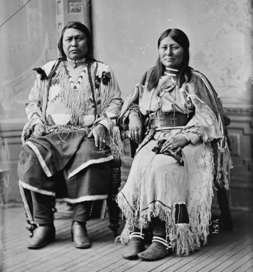 Mathew Brady and Levin Corbin Handy, Indian Group. Chief Ouray & Chipeta (Ute Tribe), 1865-1880. Source: Library of Congress Prints and Photographs Division. Brady-Handy Photograph Collection