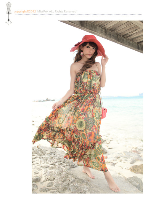 moliworld:  Printed Chiffon Sundress from Sundress and the Beach Posted By: www.Moliworld.com