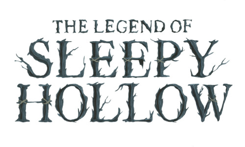 "Hand painted type for ""The Legend of Sleepy Hollow"""