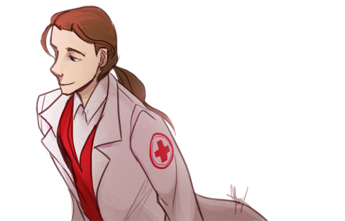 Someone's medic oc. He looks way too young in this style………………………. It's funny how fast you feel drained art-wise.