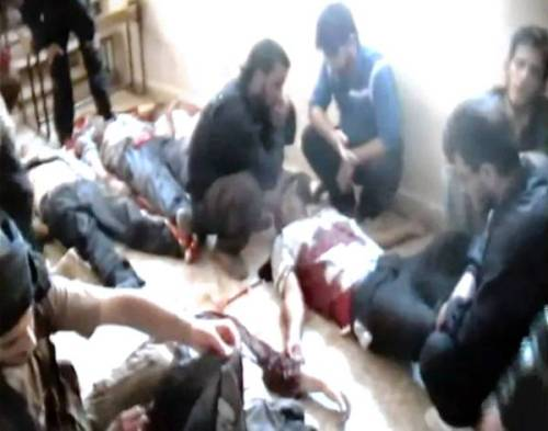 "occupyallstreets:  12 Syrians Workers Killed Marking The Third Massacre This Week Evidence of a new massacre — the third in a week — surfaced Friday in Syria as a called for an ""international, transparent, independent and prompt investigation"" of mass killings last week in the township of Houla that left more than 100 people dead, mostly women and children slaughtered in their homes. Both sides in the conflict reported Friday that the bodies of a dozen workers at a government-run fertilizer factory had been found dumped in a field near the central town of Qusair, all apparently shot. The slayings fit a disturbing pattern of motorists and bus passengers being yanked from their vehicles at checkpoints and executed, apparently because of their sect or perceived allegiance, or lack of allegiance, to the government of President Bashar Assad. Government and rebel checkpoints now mark many roads in Syria, especially in conflict zones such as the central province of Homs, where the latest reported mass killing occurred. Some checkpoints have become killing zones or kidnapping sites, according to both sides in the conflict. The slayings of the factory workers again raised fear that Syria is plunging into a cycle of tit-for-tat sectarian massacres and a possible civil war, concern voiced this week by U.S. Secretary of State Hillary Rodham Clinton, among others. The killers in Syria's escalating series of massacres typically remain anonymous as each side blames the other, a scenario that unfolded again after the latest incident. Source"