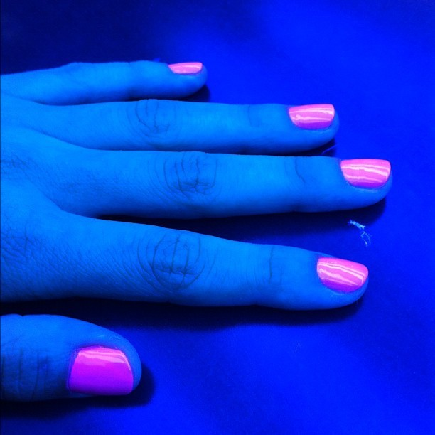 Neon mani, perfect for the summer!  (Taken with instagram)