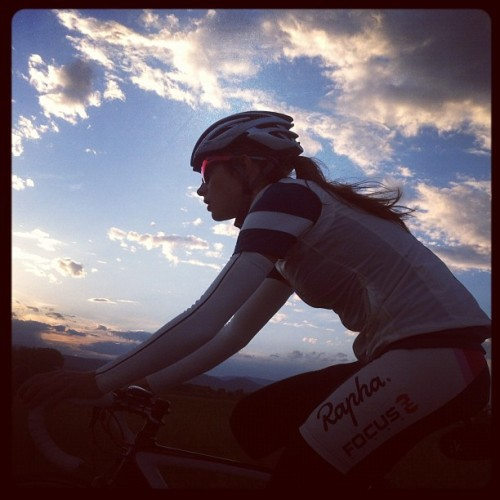 theathletic:  Thanks for this. Riding with this lady is great. (Taken with instagram)