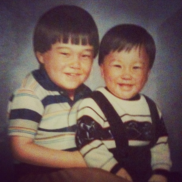 stevengoradio:  My older brother and I when I was a baby. Yes that is me. #mybabymodelfriendsteve (Taken with instagram)