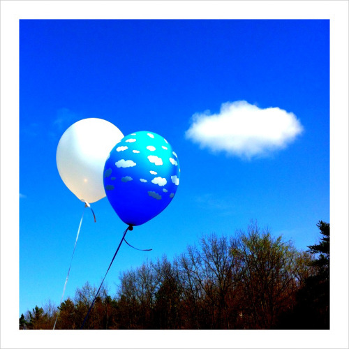 """A cloud is popping out of the balloon"" ;)"