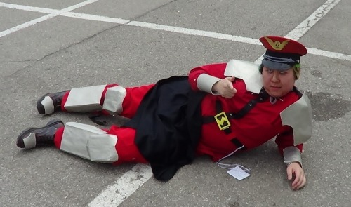 M. Bison's tan pose by *TheSpazOutLoud What's underneath my cape? Mah dick!
