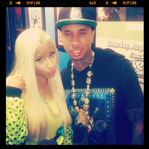 MY TWO FAVORITE TOGETHER<3 !!!! Nicki Minaj & Tyga!! 😍😘😏😊👍 ! They need more collabs together(; ! #ymcmb #tyga #nickiminaj #lovethem #gaaah (Taken with instagram)