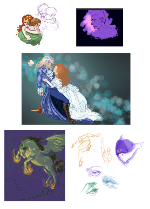 Some sketches and things I've been working on. :) Akeyla, your pic is in there! :D  Weird anatomy is weird!! DX