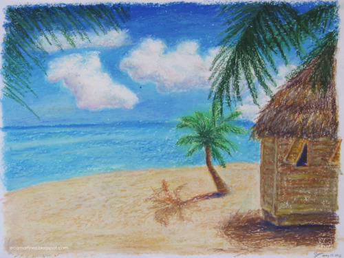 Tropical Getaway oil pastels Week 6 homework for my art class. Read more and see more here :D