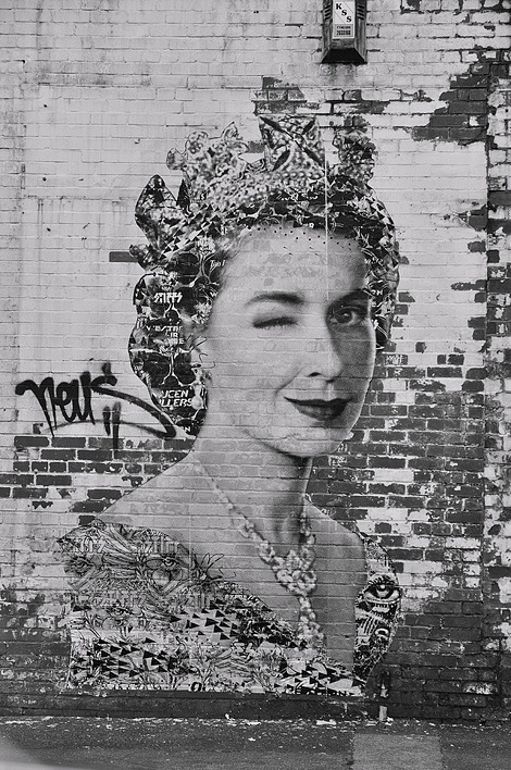 The Queen (via God Save the Queen | iainclaridge.net) #street #art  Thank You rmgdesign