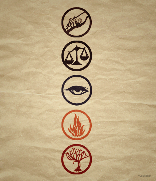 theamities:  25 Day Divergent Challenge | Day 22: Your favourite thing about the book  the factions