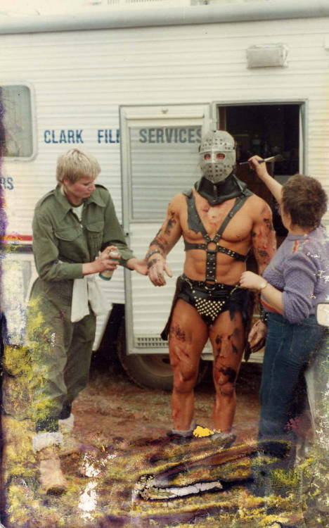 You don't just roll out of bed looking this good. bullit1987:  The Humungus in make-up for Mad Max: The Road Warrior