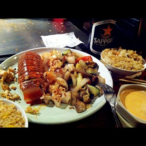Lobster tail, scallops, shrimp, fried rice!
