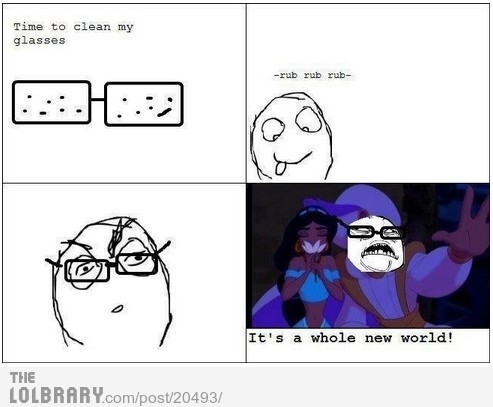 I don't even wear glasses but, lolololololol