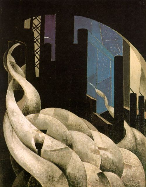 cognitivemiser:  Charles Demuth. Incense of a New Church. 1921.  A celebration of industrialization or a criticism of it? That's for you to decide…