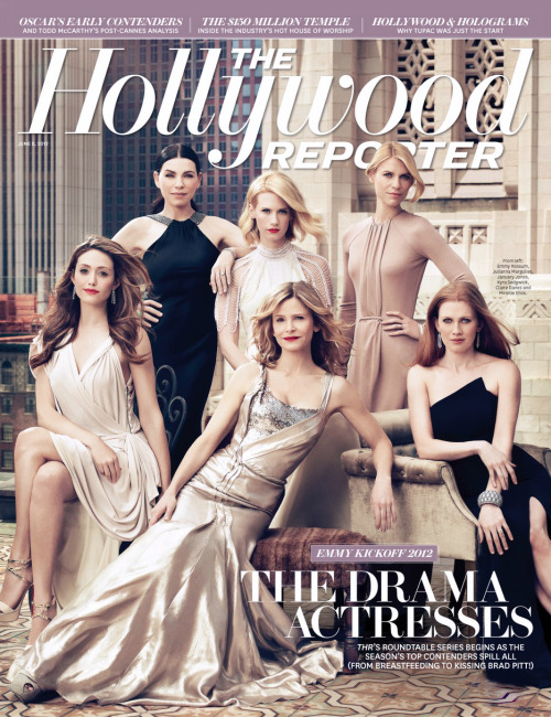 Julianna Margulies, January Jones, Claire Danes, Emmy Rossum, Kyra Sedgwick & Mireille Enos (The Hollywood Reporter, June 2012)