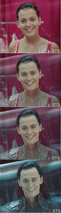 Katy Perry to Loki. asdfgfghsfgh