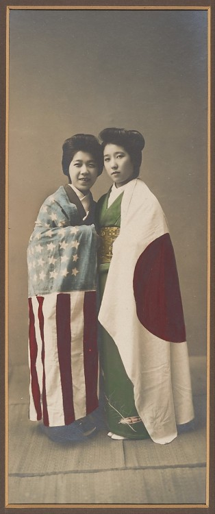 The Metropolitan Museum of Art - [Japanese Women Cloaked in American and Japanese Flags]