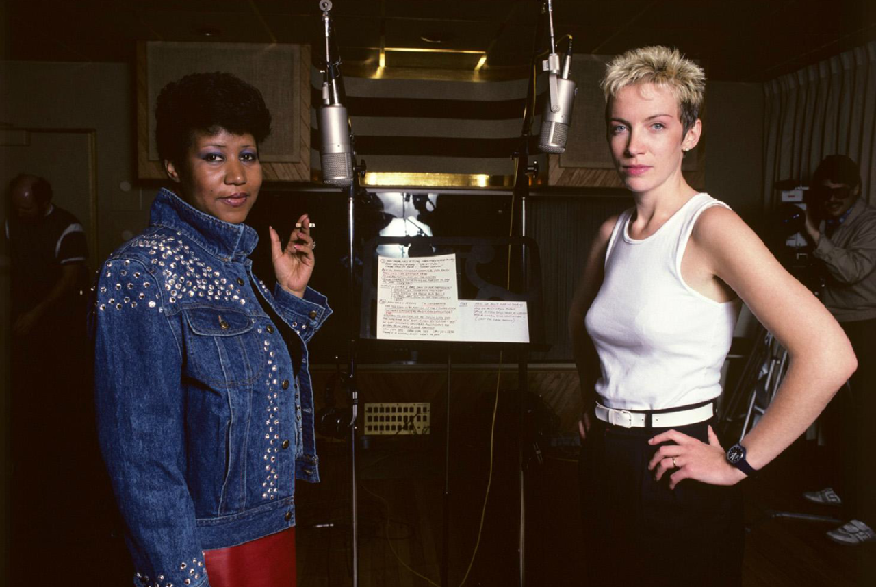 Aretha Franklin and Annie Lennox photographed by Lynn Goldsmith