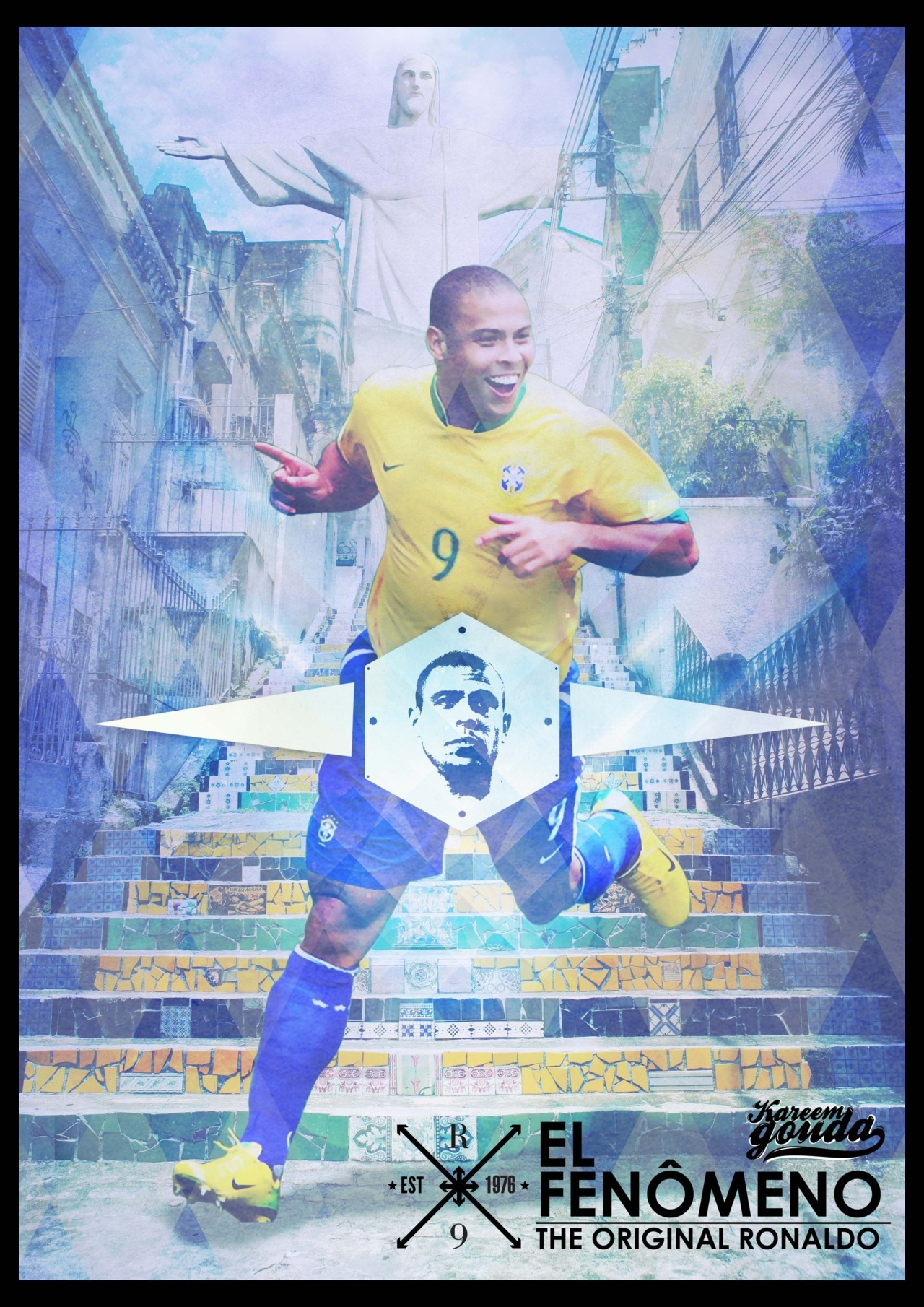 Poster tribute to one of the greatest football players in history; Ronaldo Luís Nazário de Lima (O' FENÔMENO) a.k.a. The Original Ronaldo.