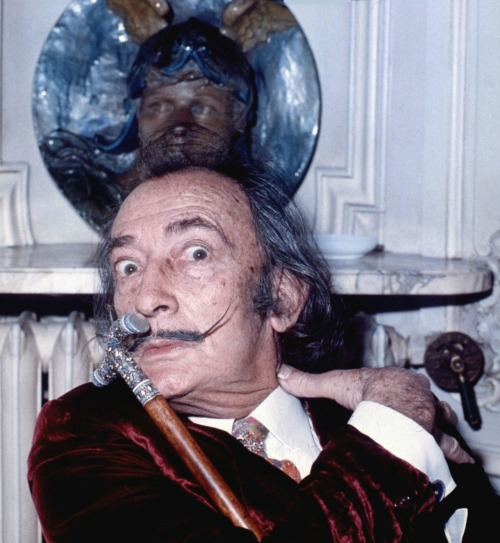 Allan Warren, Salvador Dali at the Maurice Hotel, Paris, 1972.