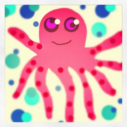 Retard octopus! #drawsomething #octopus #ocean #sea #retard #cute (Taken with instagram)