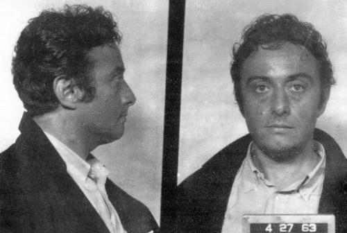 Mugshot of Lenny Bruce following his arrest in San Francisco, California, 27 April 1963. Source: San Francisco Police Department