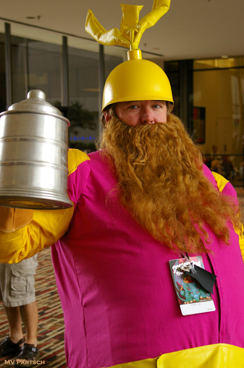 Volstagg the Voluminous, Lion of Asgard!! Dragon*Con. Atlanta. 2011. The Atlanta Hilton: Patio Courtyard Lobby.