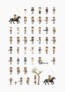 it8bit:  8-Bit The Man With No Name Created by Fitz Fitzpatrick T-shirts and prints available at society6.