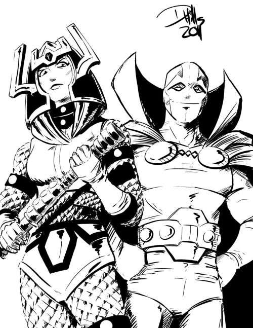 thehappysorceress:  Barda and Scott by Doug Hills   I love these two (I refuse to use past tense).