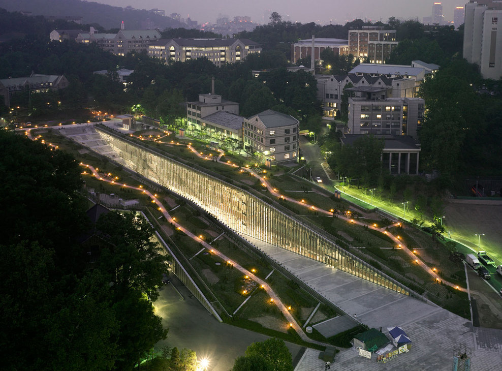ardose:  Seoul, South Korea  Ewha Womans University  DOMINIQUE PERRAULT ARCHITECTURE