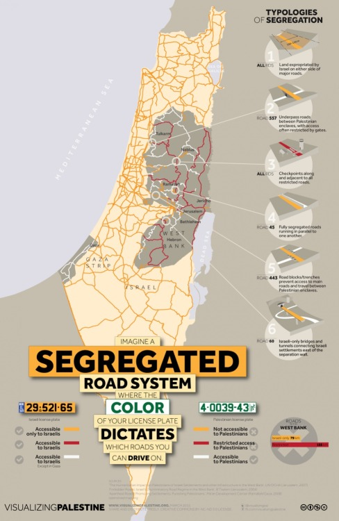 Photo:Detailed infomap of segregated road system of #Israel #Palestine [URL]